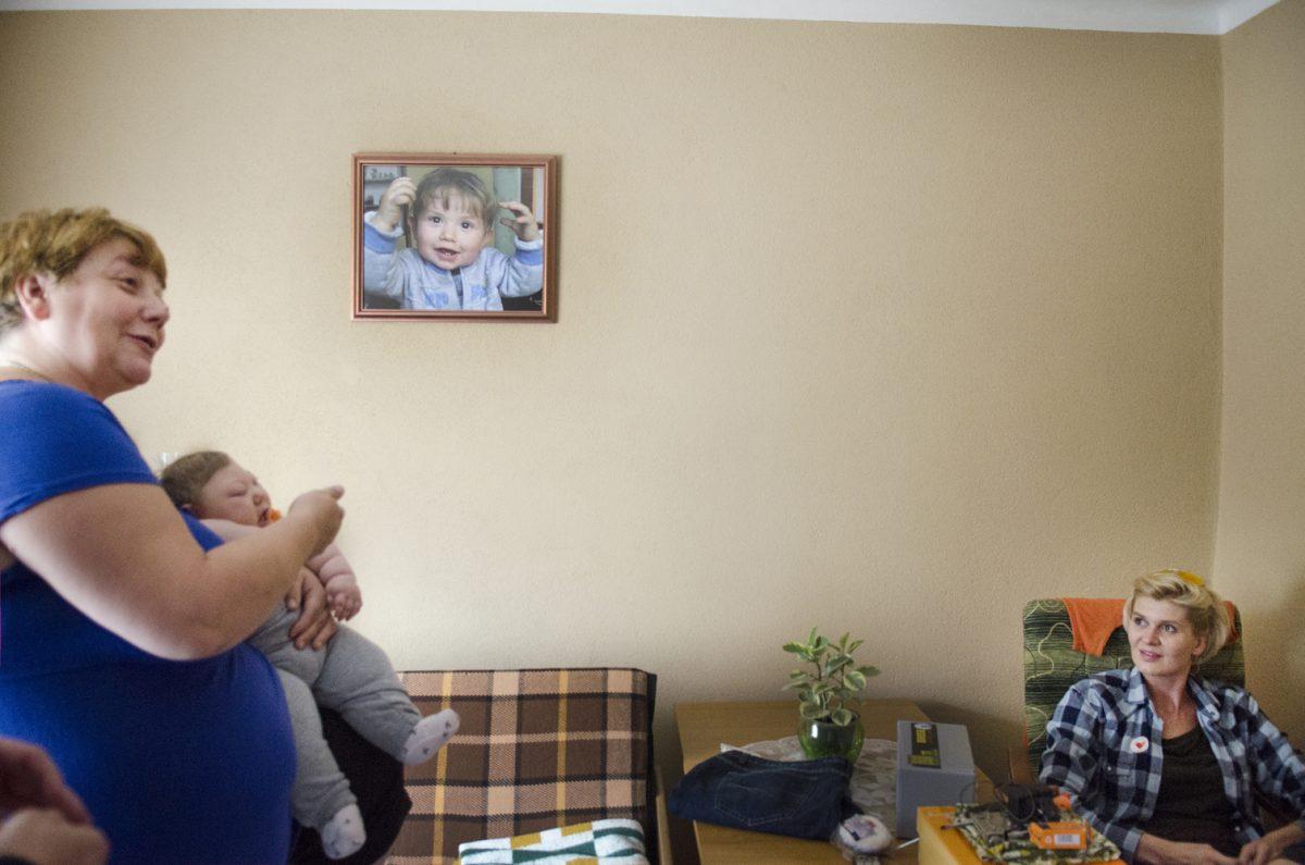 Fotografia reportażowa - w domu chorego dziecka