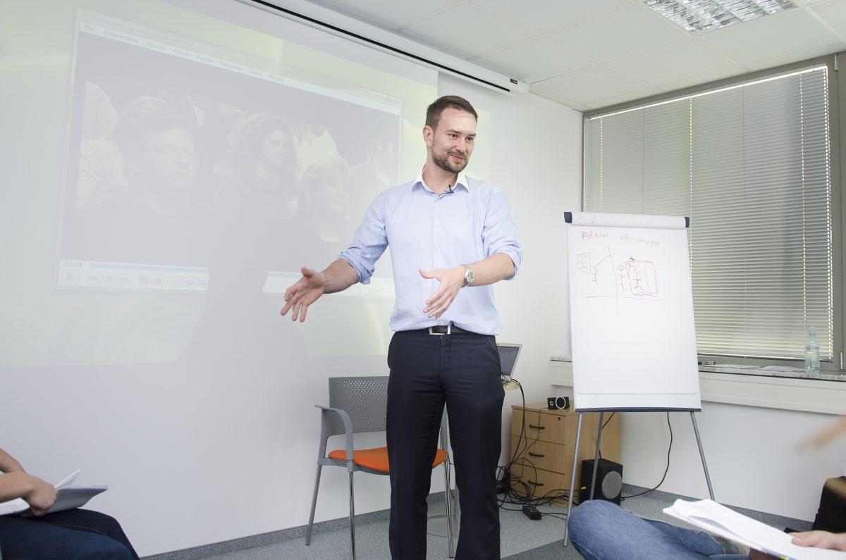 Trener Łukasz Bieliński - zdjęcie reportażowe