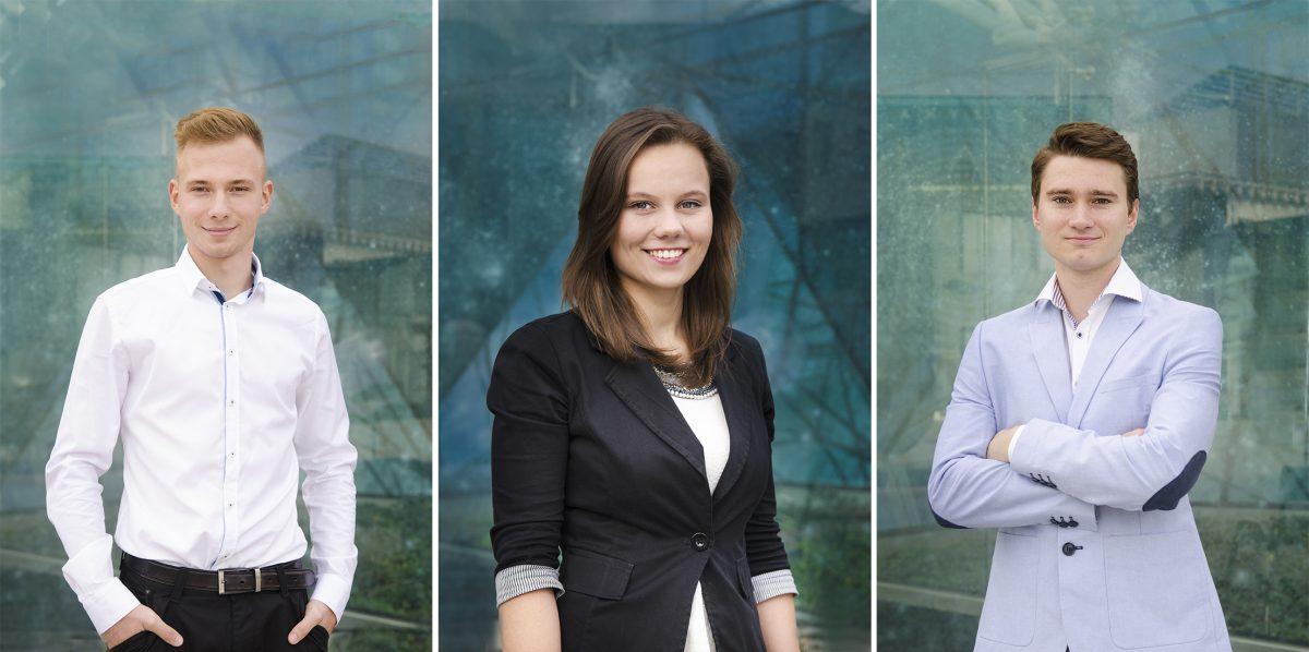 Portrety biznesowe zarządu Studenckiego Forum Business Centre Club.