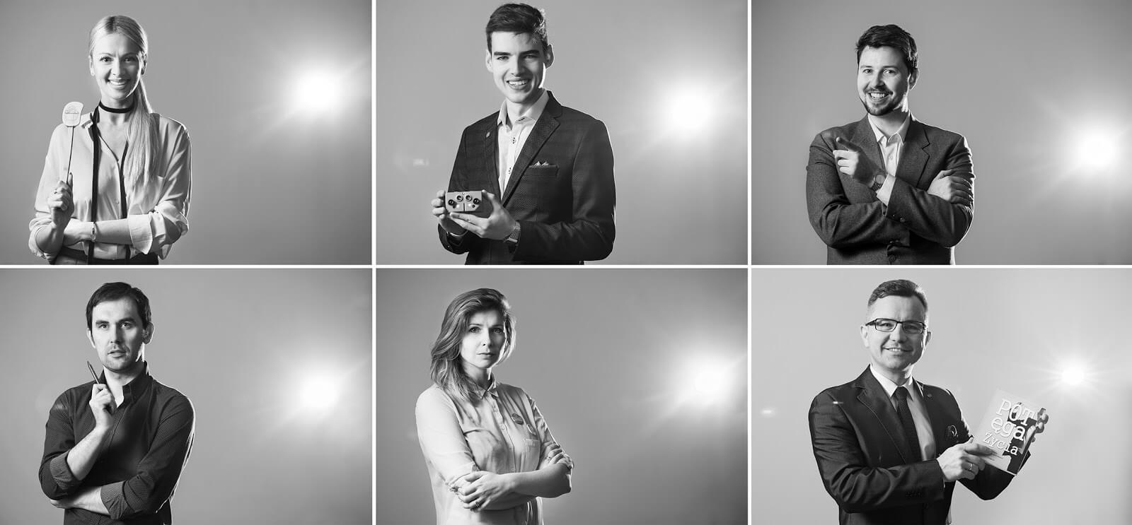 Portrety biznesowe - zestaw fotografii