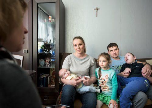 Fotografia reportażowa - zdjęcie rodziny